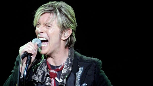 Incredible talent and creativity... David Bowie performs at the Sydney Entertainment Centre in 2003. His songs will live on.