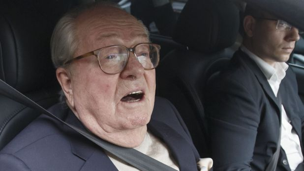 Jean-Marie Le Pen in May 2015 when he faced his party's disciplinary board over anti-Semitic remarks.