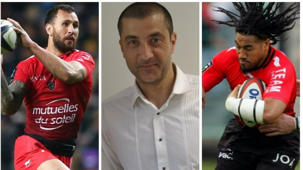 Critical: Mourad Boudjellal (centre) did not mince his words in his assessment of Quade Cooper and Ma'a Nonu.