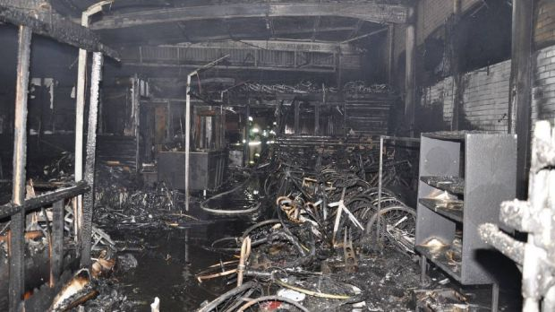 The cafe on Clifford Street was destroyed by fire.