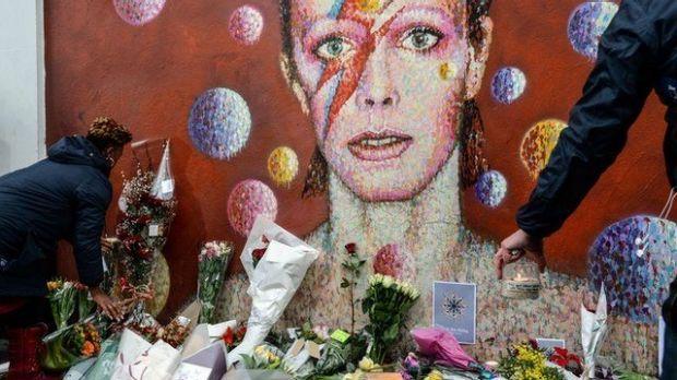 David Bowie wall, Brixton, London.