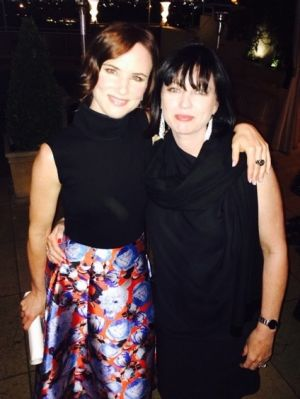 Tracey Robertson (right) with Hollywood star Juliette Lewis, who plays Detective Andrea Cornell in the US adaptation.