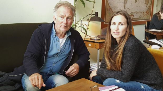 Lucky escape: Melbourne businesswoman Mikala James and her father Brian were on their way to the square when they heard ...