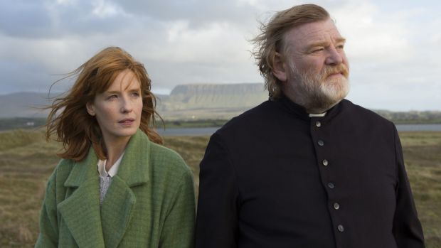 Domhnall's father is acclaimed Irish actor Brendan Gleeson, pictured here with Kelly Reilly in Cavalry.