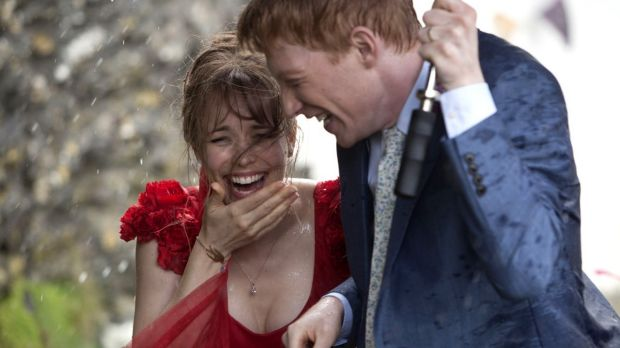 Rachel McAdams and Domhnall Gleeson in romance About Time.