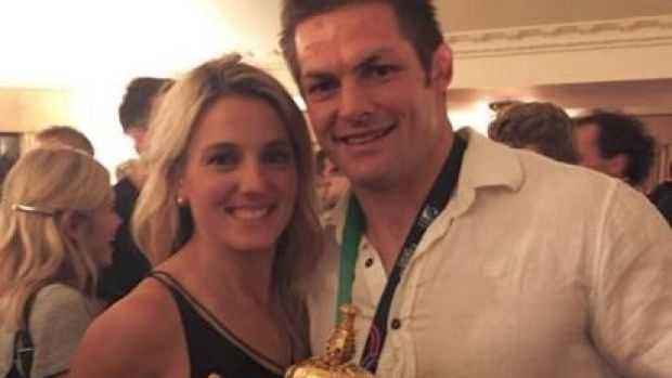Setting a date: Gemma Flynn and Richie McCaw.