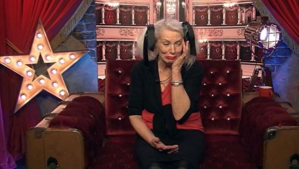 Angie Bowie on Celebrity Big Brother after hearing the news of her ex-husband David Bowie's death.