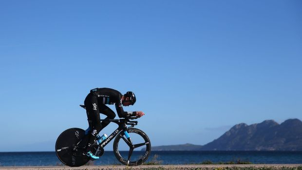 Better things to do: Chris Froome at a Team Sky training camp in Spain