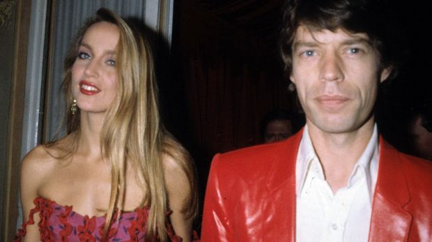 Jerry Hall and Mick Jagger  in 1982.