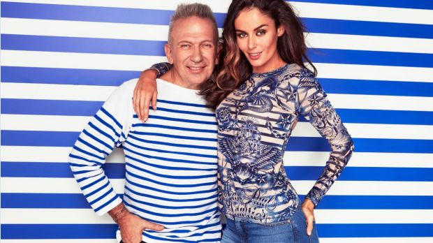 Jean Paul Gaultier, with model Nicole Trunfio, is coming to Melbourne.