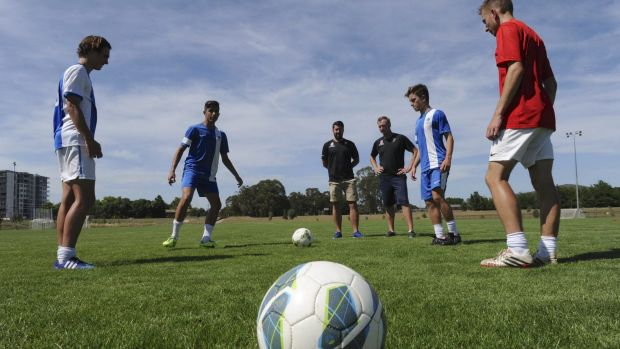 Canberra United Academy training session for the upcoming National Premier League competition.