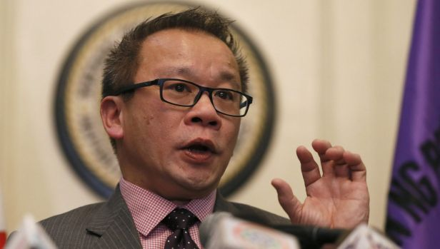 Philippine Supreme Court spokesman Theodore Te speaks after the court's decision that declared the constitutionality of ...