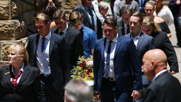 Cole Miller's casket is taken from St Stephen's Cathedral.