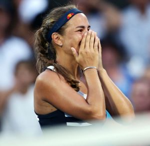 Tears of joy: Monica Puig after her win over Sam Stosur.