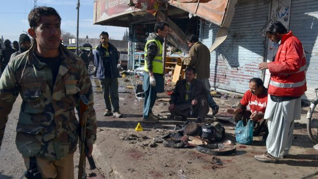 The suicide attack on a polio vaccination centre in southwestern Pakistan killed at least 15 people and wounded many, ...