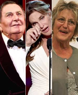 Barry Humphries, Caitlyn Jenner and Germaine Greer