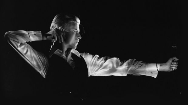 The Archer – David Bowie as The Thin White Duke –  photographed by John Rowlands in 1976.