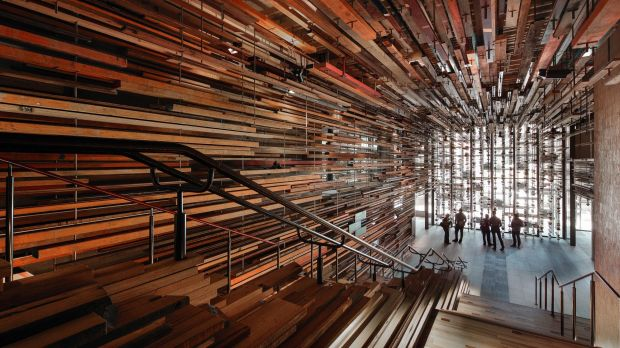 Nishi's grand staircase and entrance foyer, NewActon.