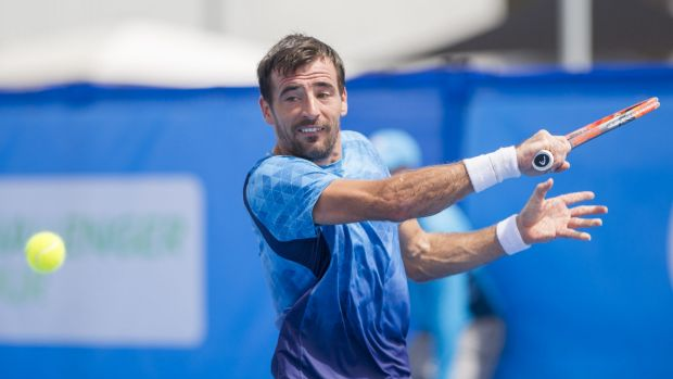 Croatia's Ivan Dodig upset No.2 seed Santiago Giraldo 7-6, 6-3 in the quarter-finals of the Canberra ATP Challenger at ...
