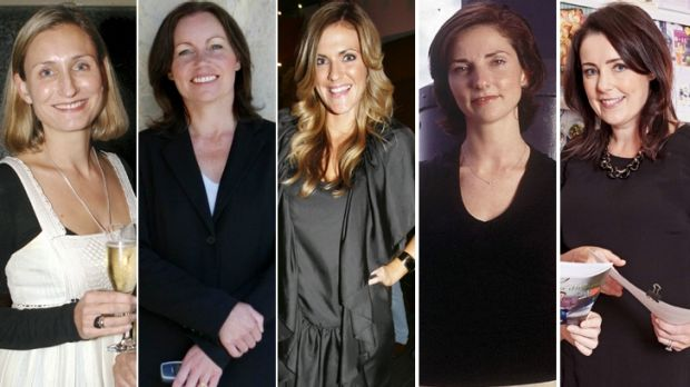 In the mix: Lisa Green, Louisa Hatfield, Bronwyn McCahon, Nicky Briger, Fiona Connolly.