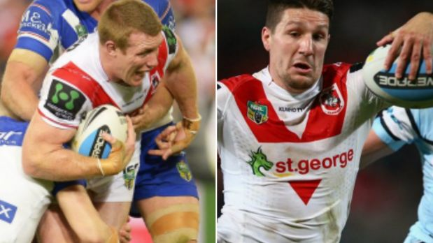 Leading from the front: Ben Creagh and Gareth Widdop.
