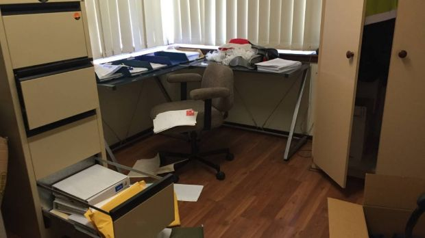 The office which was broken into at the Eaton-Australind Fire Station.