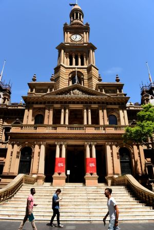 The steps outside Town Hall are Sydney's quintessential meeting place.