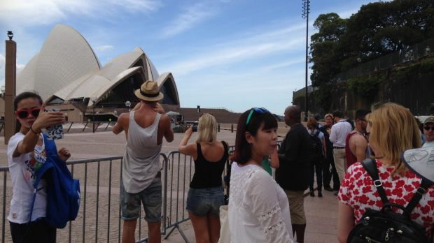 The Opera House was cordoned off on Thursday.