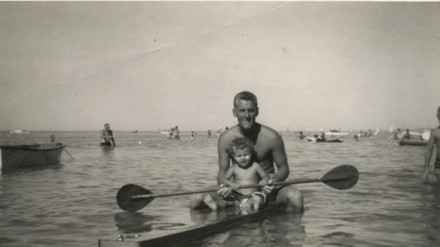 Liz Minter with her father.