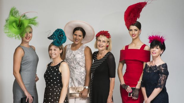 Keen for a win: Fashions in the field hopefuls (From left) Steph Davies, Jade Sargent, Kate Speldewinde, Christine ...