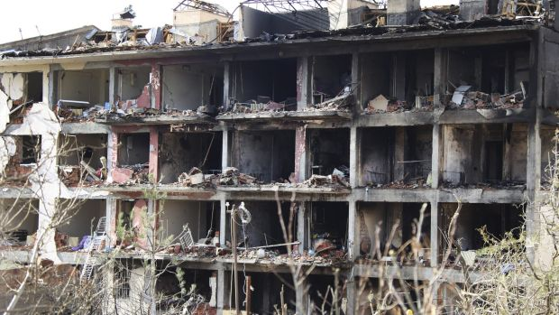 The aftermath of a truck bomb on a police station in south east Turkey.