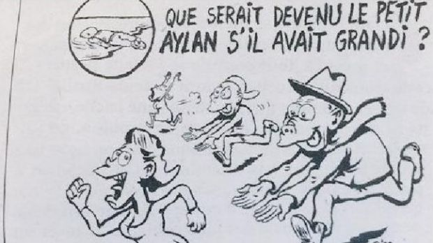 Charlie Hebdo's new cartoon has been met with outrage.