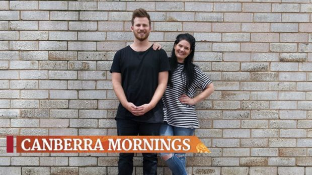104.7's new breakfast presenters Ryan Jon and Tanya Hennessy start behind the mic in Canberra on Monday.