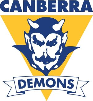 The new Canberra Demons logo for the ACT's only remaining NEAFL team.