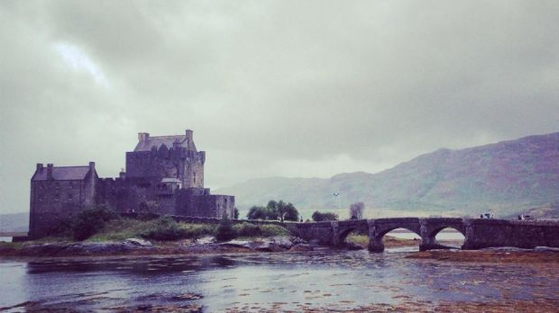 Eilean Donan Castle in the Scottish Highlands during the summer season.