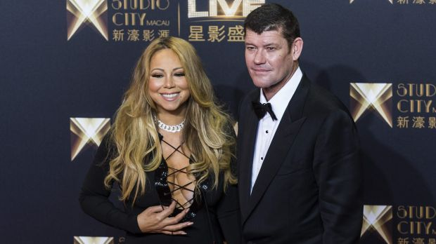 Engaged: James Packer and singer Mariah Carey.