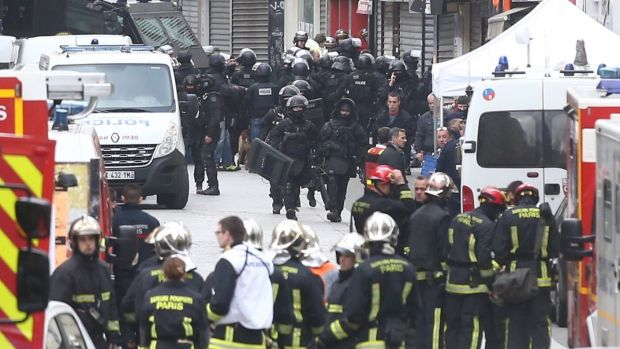Military and police conduct an operation in St Denis in Paris on November 18.