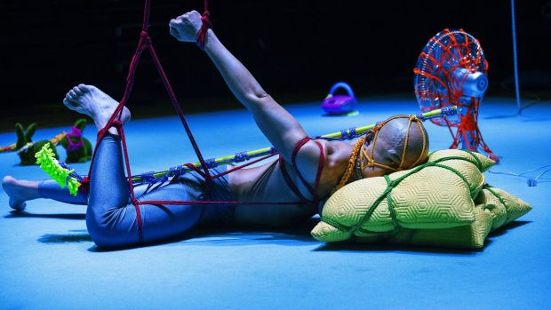 Tied up: Audience participation is an integral part of new dance work <i>BUNNY</i> at Campbelltown Arts Centre.