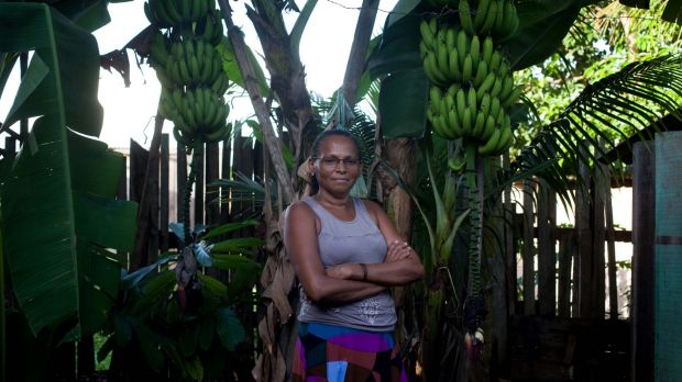 Raimunda Gomes da Silva at her house, which will be under water after the construction of the Belo Monte hydroeletric dam