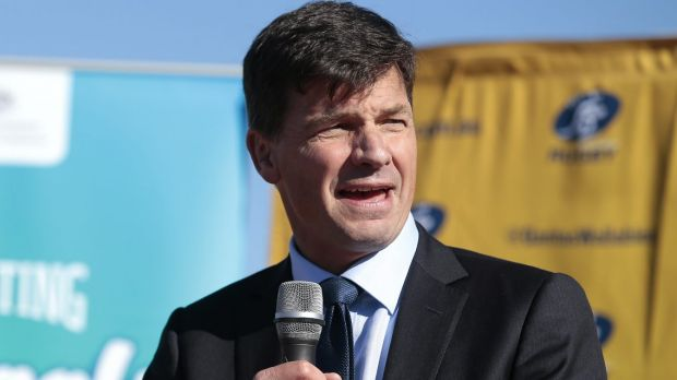 Also under threat: Liberal MP Angus Taylor