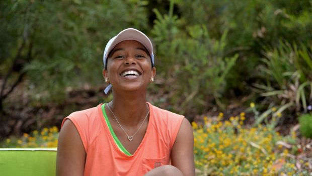 American tennis player Vicky Duval, who is making her comeback from cancer.