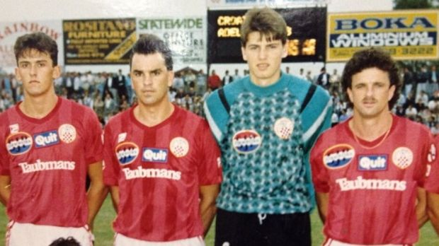 Back in the day: Wanderers coach Tony Popovic (left) and Sydney FC boss Graham Arnold (right) during their time at ...