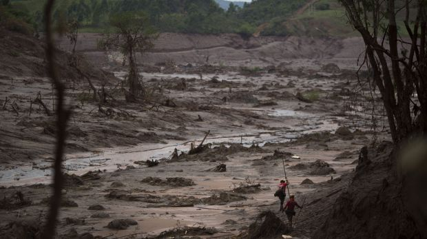 The burst unleashed huge quantities of mud and waste that destroyed a nearby village and killed at least 17 people, in ...