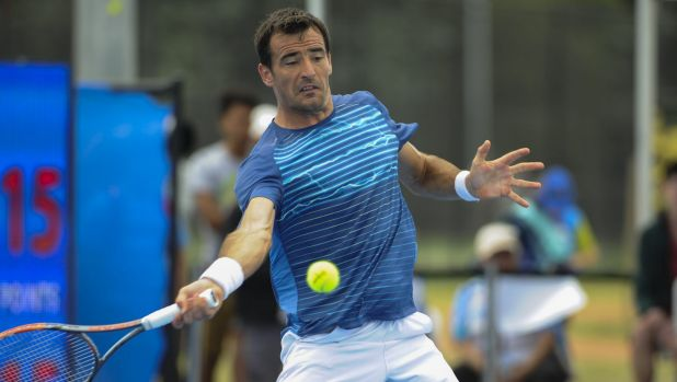 Number 5 seed, Ivan Dodig of Croatia, was no match for Paolo Lorenzi in the final.