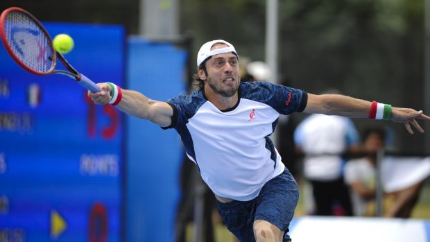 Italian Paolo Lorenzi claimed the inaugural $75,000 Canberra ATP Challenger with a 6-2 6-4 victory against Ivan Dodig at ...
