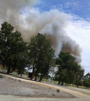 The fire that has closed roads at Piara Waters.