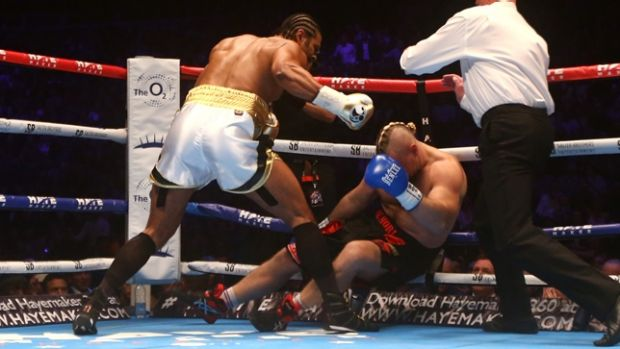 David Haye landed the decisive punch within two minutes.