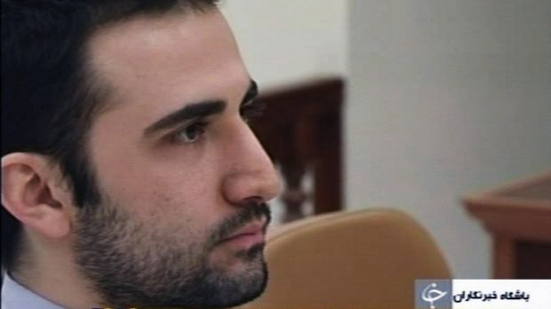 Freed: US citizen Amir Hekmati, accused by Iran of spying for the CIA, sits in Tehran's revolutionary court, in Iran in 2011.