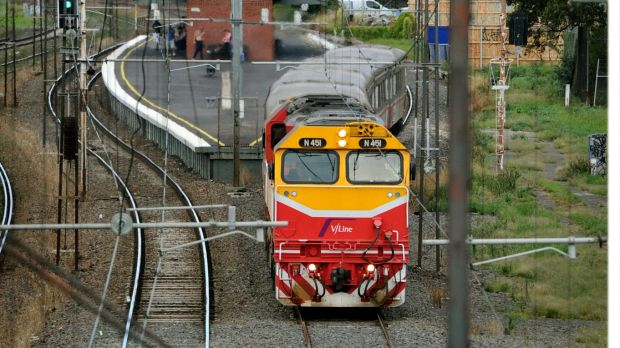 Commuters face delays because of a ban on V/Line trains entering Melbourne.