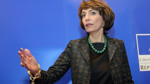 French Health Minister Marisol Touraine speaks to the media last week after it was revealed six healthy volunteers had ...
